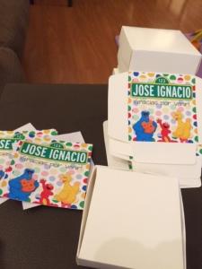 Stickers para las cajitas de torta