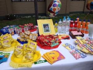 La mesa de los snacks